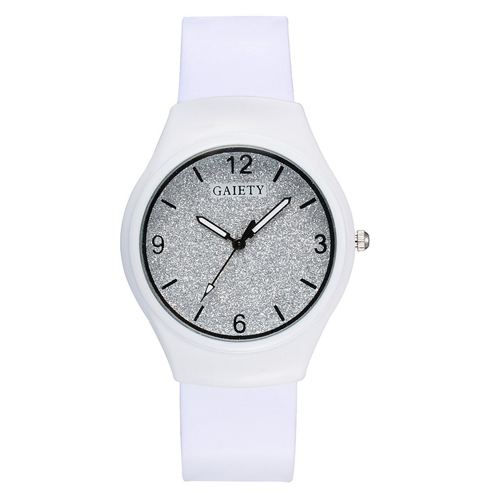 GAIETY G466 Girls White Leather Watch - WHITE