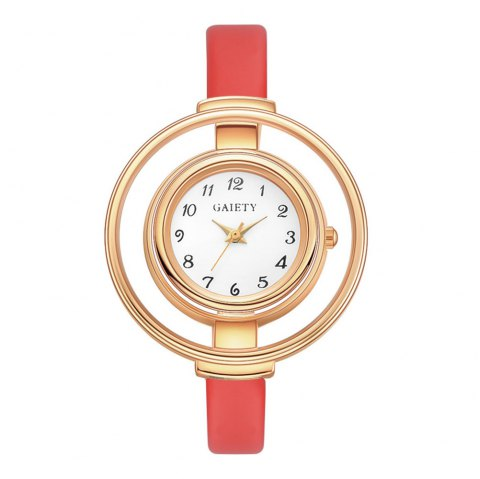 GAIETY G467 Stylish Candy Color Watch - RED