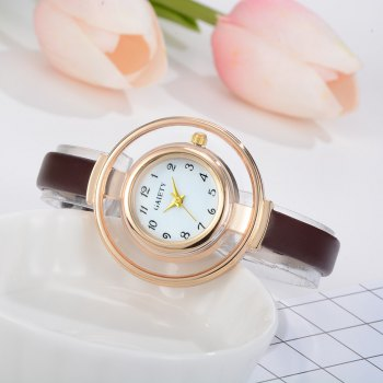 GAIETY G467 Stylish Candy Color Watch - BROWN