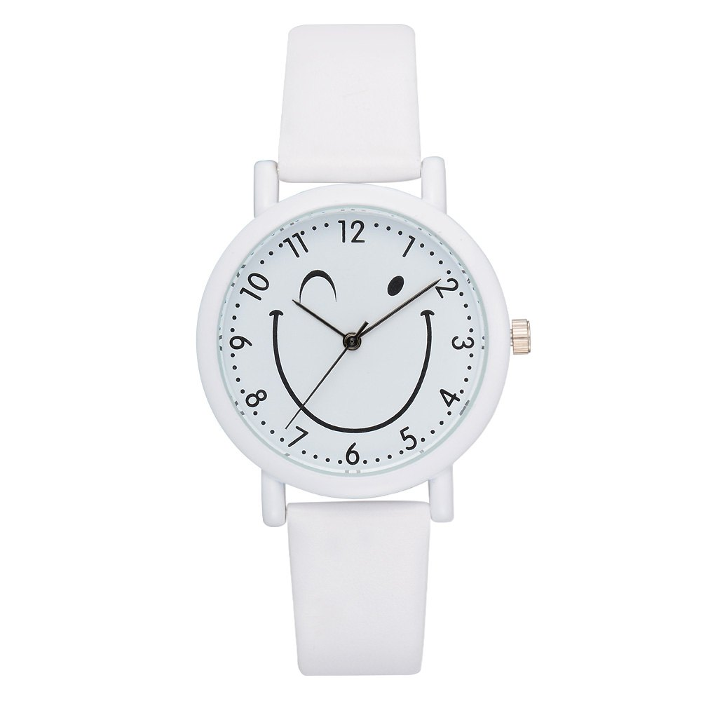 GAIETY G469 Lady Smiley Watch - WHITE