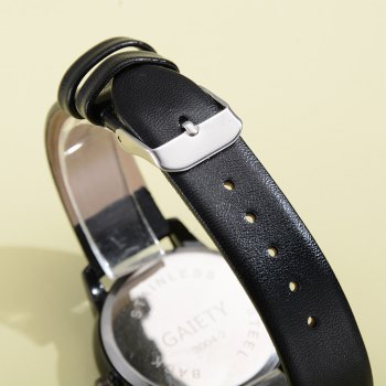 GAIETY G471 Strap Couple Watch -  BLACK