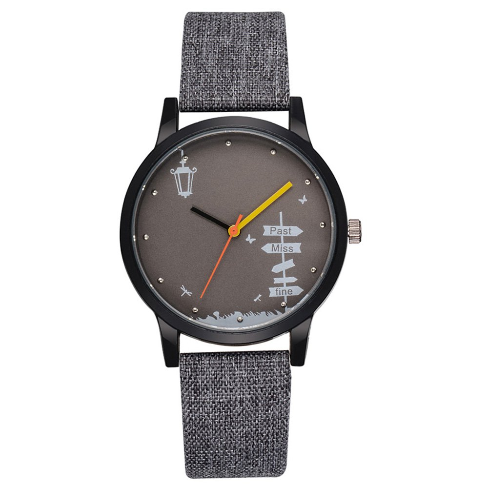 GAIETY G476 Men's Large Dial Watch - GRAY