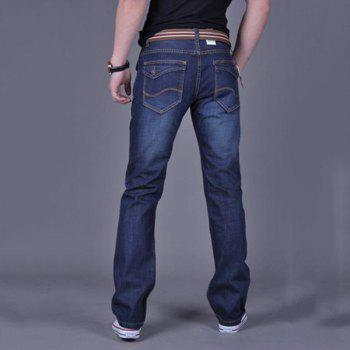 Hommes Casual Work Sport Pure Pant Jeans - Bleu 32