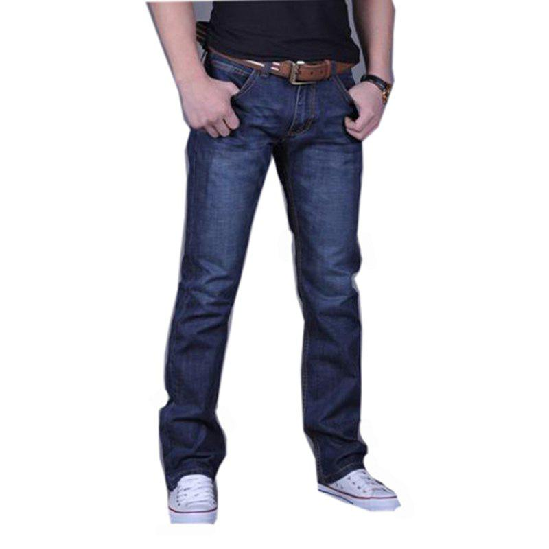 Men's Casual Work Sport Pure Pant Jeans - BLUE 38