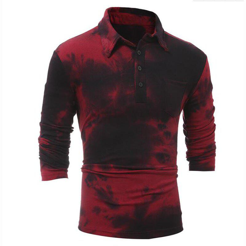 Men's Casual Daily Simple Shirt Check Stand Long Sleeves Cotton T-shirt men s casual daily simple shirt check stand long sleeves cotton t shirt