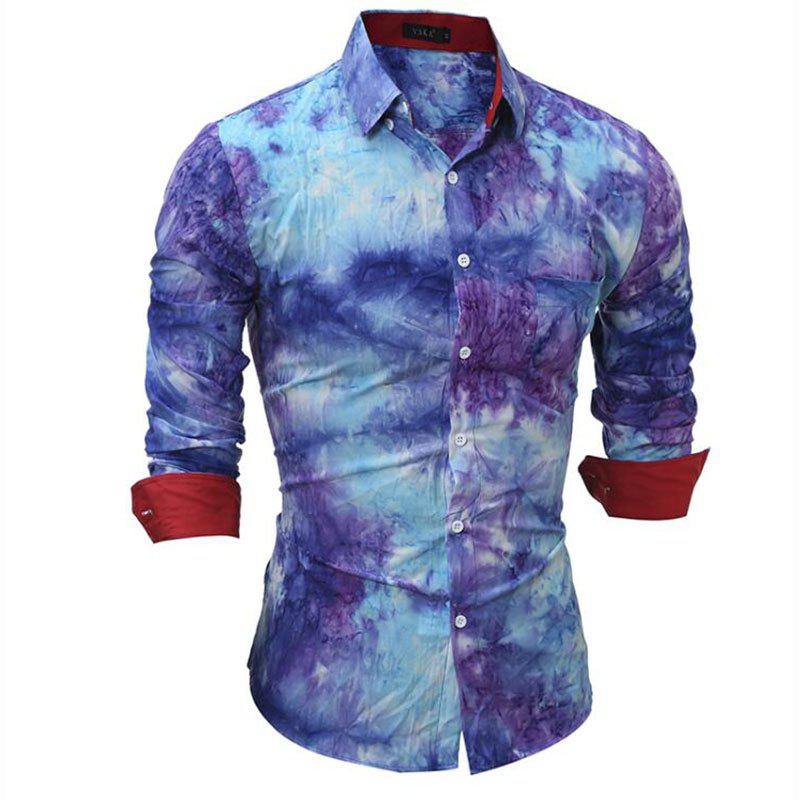 Men's Party Going out Vintage Boho Chinoiserie All Seasons Shirt Floral Print Classic Collar Long Sleeves going solo