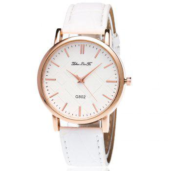 With Gift Box Quartz Watch Business Women'S Bamboo Pattern Strap Simple Temperament Watch - WHITE WHITE