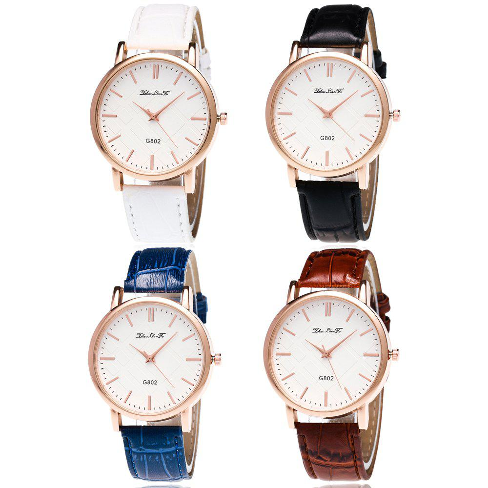 With Gift Box Quartz Watch Business Women'S Bamboo Pattern Strap Simple Temperament Watch - WHITE