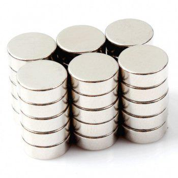 Round Cylinder Magnets 8X3 Mm  Multi-Use for Fridge Door Whiteboard Magnetic Map Bulletin Boards Refrigerators 35 Pcs - SILVER SILVER