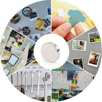 Round Cylinder Magnets 8X3 Mm  Multi-Use for Fridge Door Whiteboard Magnetic Map Bulletin Boards Refrigerators 35 Pcs - SILVER