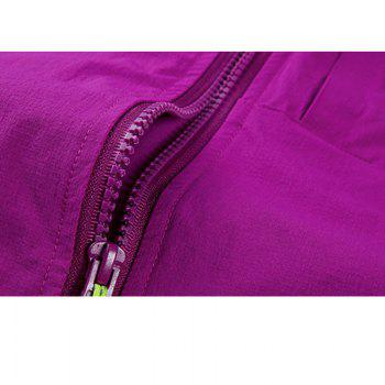 Outdoor Four Side Projectile Single Layer Charge Clothing for Male Autumn Mosaic Season Waterproof Mountaineering Suit - VIOLET 2XL
