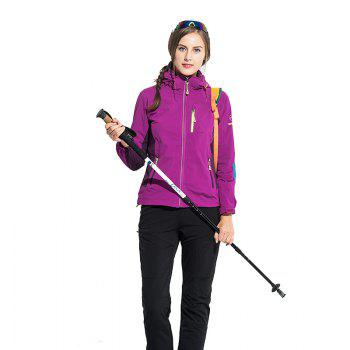 Outdoor Four Side Projectile Single Layer Charge Clothing for Male Autumn Mosaic Season Waterproof Mountaineering Suit - VIOLET L