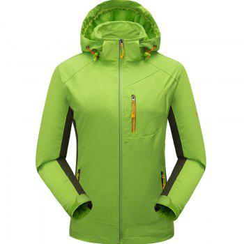 Outdoor Four Side Projectile Single Layer Charge Clothing for Male Autumn Mosaic Season Waterproof Mountaineering Suit - NEON GREEN NEON GREEN