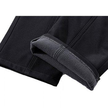 Autumn and Winter Outdoor Couple Pants Pants Men and Women Soft Shell Waterproof Breathable Plus Velvet Soft Shell Assau - BLACK 2XL