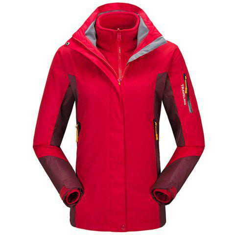 Winter Outdoor Clothing Andes Triple Three Sets of Windproof Breathable Sports Mountaineering Clothing - SHOCKING XL