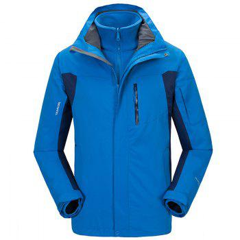 Winter Outdoor Clothing Andes Triple Three Sets of Windproof Breathable Sports Mountaineering Clothing - BLUE BLUE