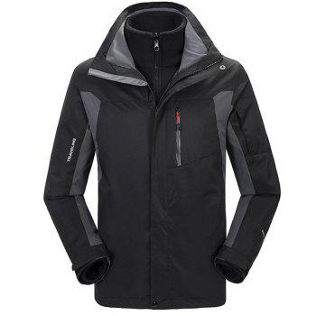 Winter Outdoor Clothing Andes Triple Three Sets of Windproof Breathable Sports Mountaineering Clothing - BLACK BLACK