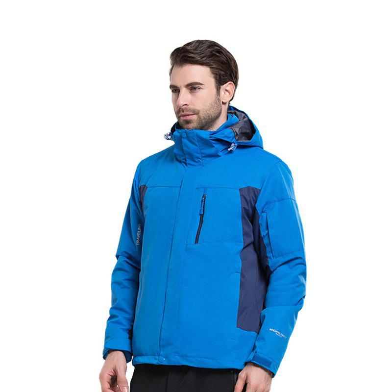 Winter Outdoor Clothing Andes Triple Three Sets of Windproof Breathable Sports Mountaineering Clothing - BLUE M