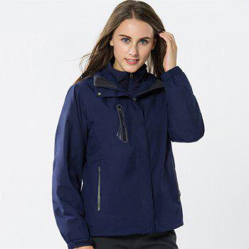 Jackets Men Triple Waterproof Breathable Mountaineering Women Warm Windproof Outdoor Clothing - CERULEAN CERULEAN