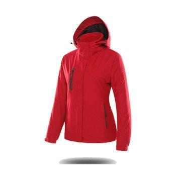 Jackets Men Triple Waterproof Breathable Mountaineering Women Warm Windproof Outdoor Clothing - FLAME FLAME