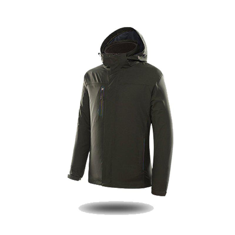 Jackets Men Triple Waterproof Breathable Mountaineering Women Warm Windproof Outdoor Clothing - ARMYGREEN 4XL