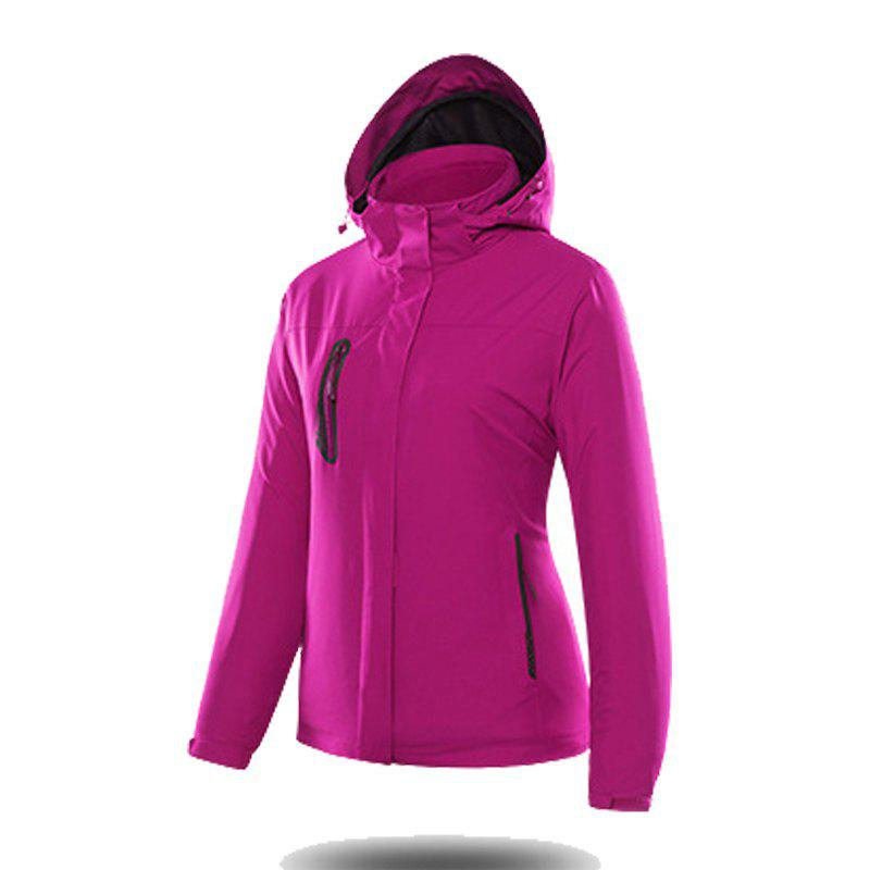 Jackets Men Triple Waterproof Breathable Mountaineering Women Warm Windproof Outdoor Clothing - VIOLET M