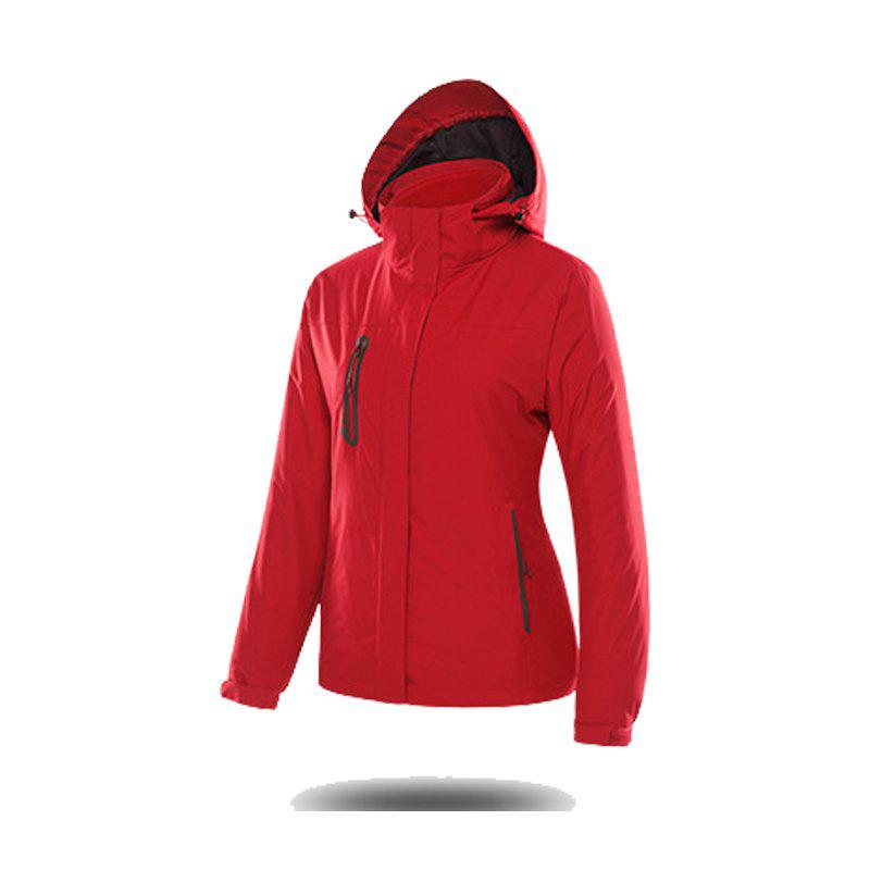 Jackets Men Triple Waterproof Breathable Mountaineering Women Warm Windproof Outdoor Clothing - FLAME XL
