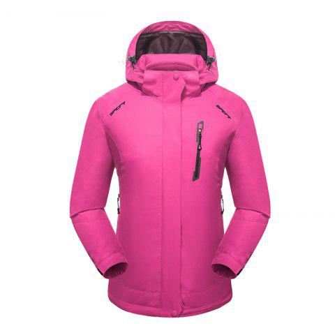 2017 Winter New Assault Clothing Triple Male Waterproof Trade Ski Suit Large Size Outdoor Clothes Female - ROSE RED 4XL
