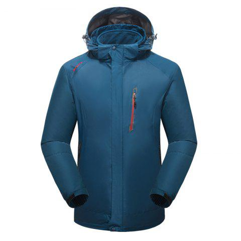 2017 Winter New Assault Clothing Triple Male Waterproof Trade Ski Suit Large Size Outdoor Clothes Female - BLUE 4XL