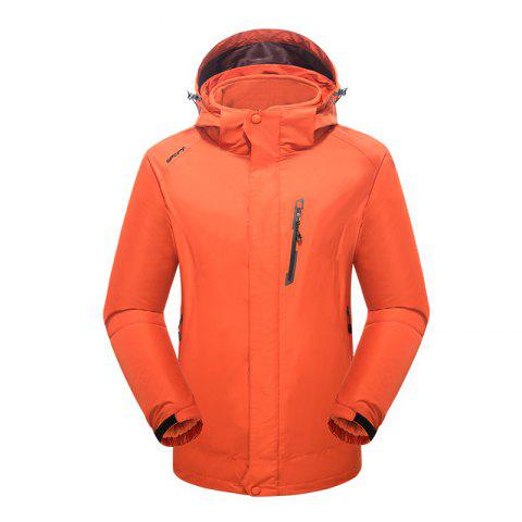 2017 Winter New Assault Clothing Triple Male Waterproof Trade Ski Suit Large Size Outdoor Clothes Female - ORANGE L