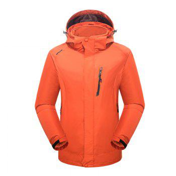 2017 Winter New Assault Clothing Triple Male Waterproof Trade Ski Suit Large Size Outdoor Clothes Female - ORANGE ORANGE