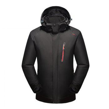 2017 Winter New Assault Clothing Triple Male Waterproof Trade Ski Suit Large Size Outdoor Clothes Female - BLACK BLACK