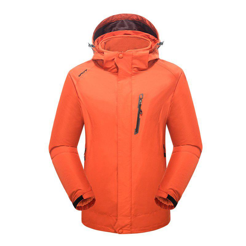 2017 Winter New Assault Clothing Triple Male Waterproof Trade Ski Suit Large Size Outdoor Clothes Female - ORANGE 2XL