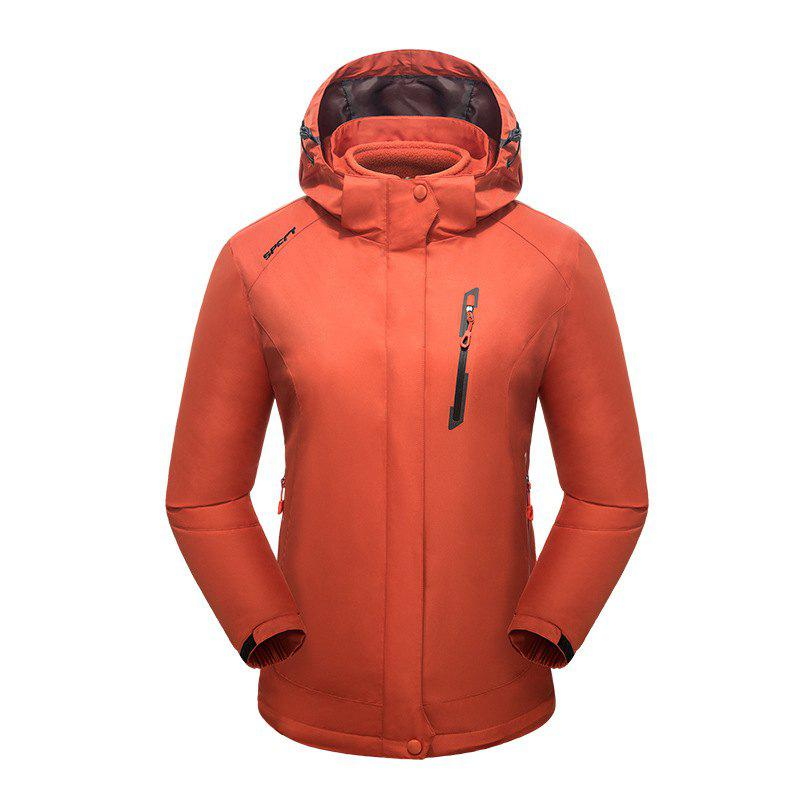 2017 Winter New Assault Clothing Triple Male Waterproof Trade Ski Suit Large Size Outdoor Clothes Female - ORANGERED 4XL