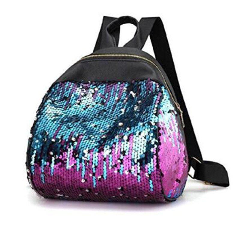 Women Sequins Backpack Casual Student Glitter Bling School Bag Purse Satchel Daypacks