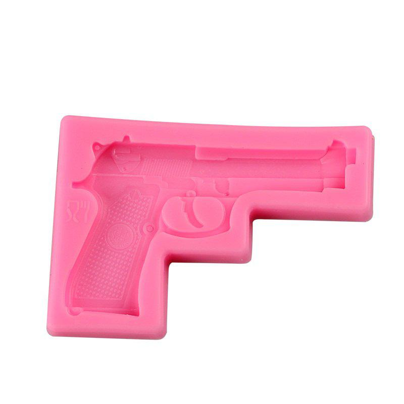 Facemile Gun Pistol 3D Silicone Candy Clay Gum Sugar Chocolate Ice Mold Fondant Mold Cake Decorating Tool - PINK