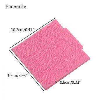 Facemile Tree Bark Line Texture Stripe Fondant Cake Mold Silicone Cake Lace Broder Mold For Kitchen Baking Decoration Tool -  PINK
