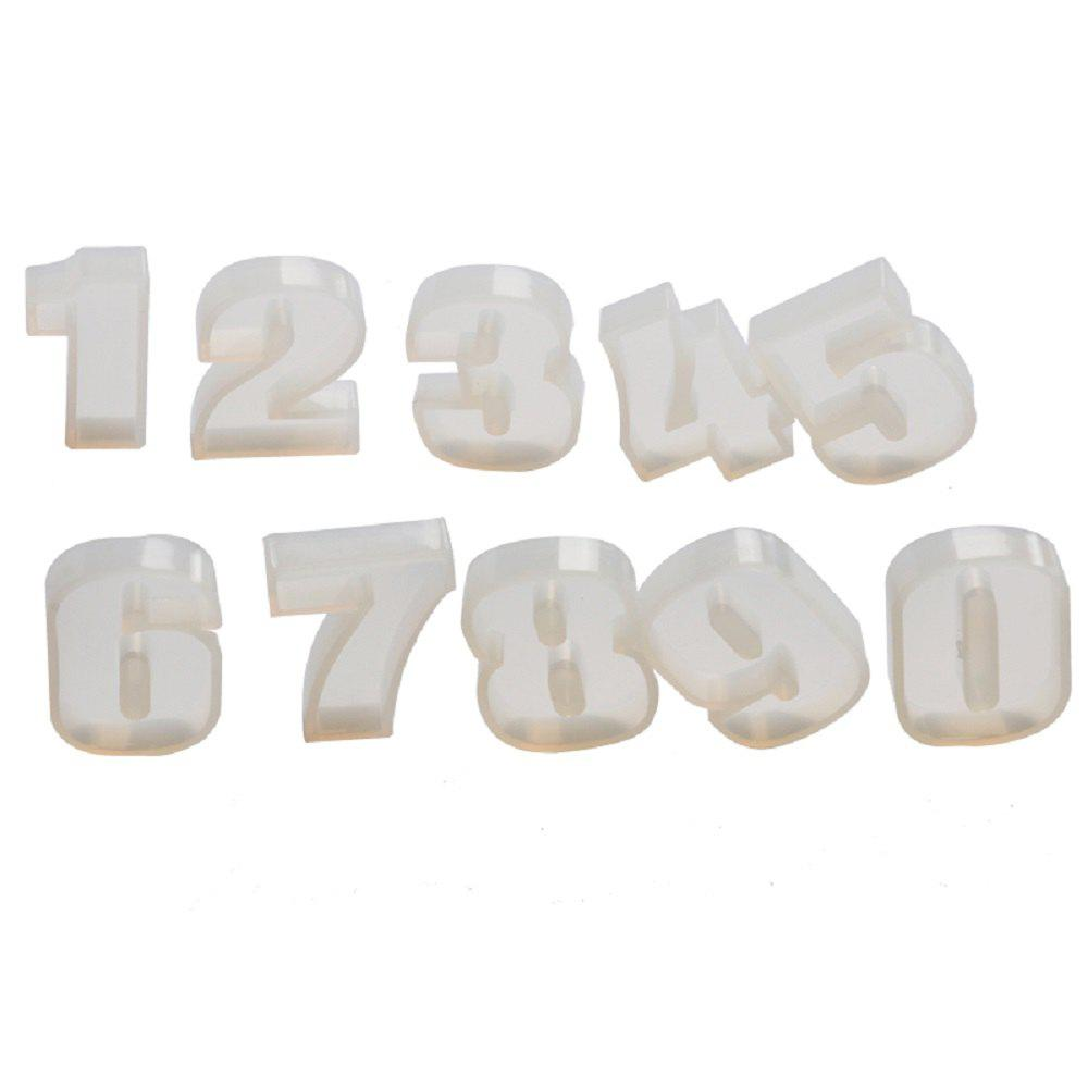 Facemile 3D DIY Number Cake Tool Christmas Silicone Chocolate Mold Jelly Candy Pudding Mould Fondant Cake Decorating - TRANSPARENT