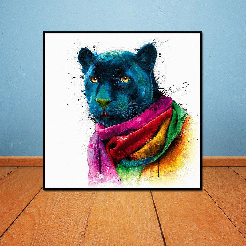 Colorful Black Panther Head Without Frame Oil Painting liss david black panther the man without fear volume 1