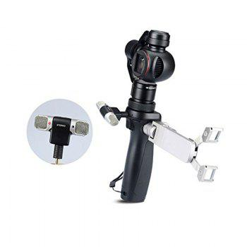 Hand External Holder Condenser Wireless Microphone for DJI Osmo - BLACK