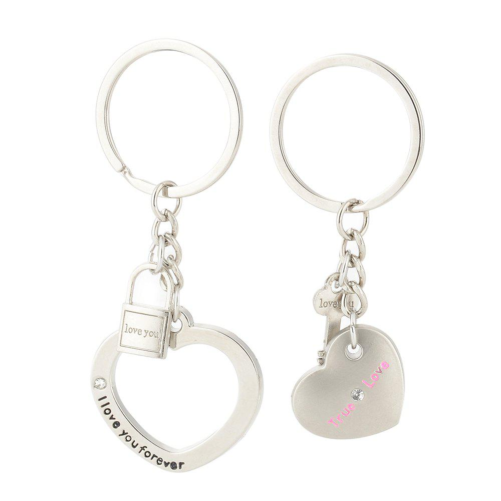 Heart-shaped Valentine's Day Keychain Favors Wedding Souvenirs men and women key ring Gifts puzzle heart design keychain set 2pcs