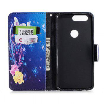 PU Leather Material Yellow Butterfly Pattern Painted Phone Case for OnePlus 5T - COLOUR