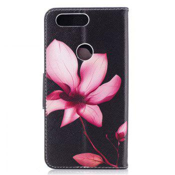 PU Leather Material Lotus Pattern Painted Phone Case for OnePlus 5T - COLOUR