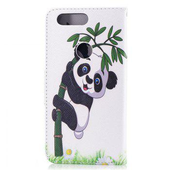 PU Leather Material Panda Pattern Painted Phone Case for OnePlus 5T - COLOUR