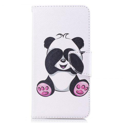 PU Leather Material Big Panda Pattern Painted Phone Case for OnePlus 5T - COLOUR