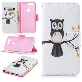 PU Leather Material Hawk on Tree Pattern Painted Phone Case for OnePlus 5T - COLOUR