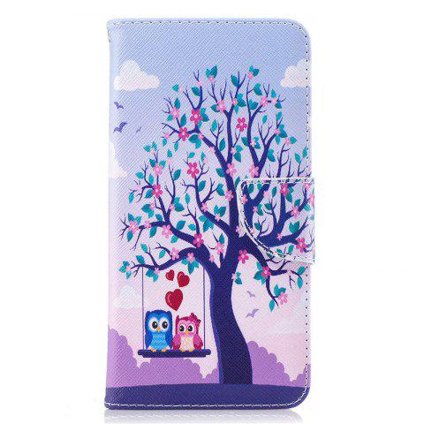 PU Leather Material Two Eagles Pattern Painted Phone Case for OnePlus 5T - COLOUR