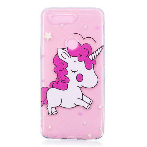 TPU Material Pink Unicorn Pattern Painted Phone Case for OnePlus 5T - COLOUR
