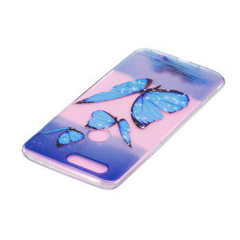 TPU Material Blue Butterfly Pattern Painted Phone Case for OnePlus 5T - COLOUR
