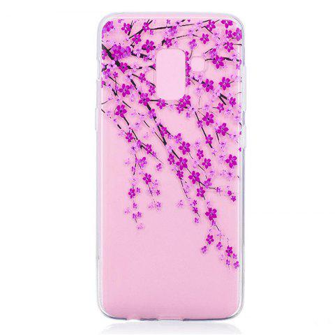 TPU Material Peach Pattern Painted Phone Case for Samsung Galaxy A5(2018) - COLOUR